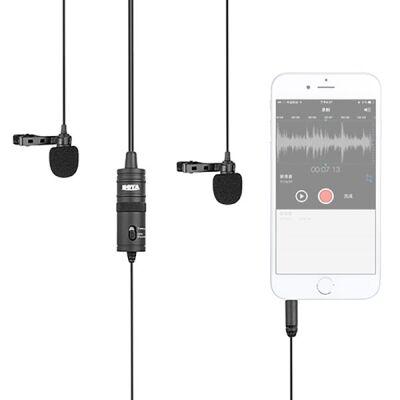 Boya BY-M1DM Çok Yönlü İkili Yaka Mikrofonu