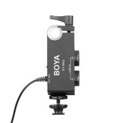 Boya - Boya BY-MA2 Çift Kanallı XLR Mikrofon Ses Mikseri