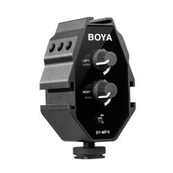 Boya - Boya BY-MP4 Telefon ve Kamera Mikrofon Ses Mikseri