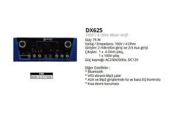 Denox - Denox DX 625 8 Ohm 100V Mikser Amplifikatör