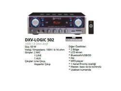 Denox - Denox DXV LOGIC 502 8 Ohm 100V Mixer Amplifikatör