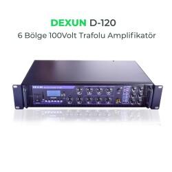 Dexun - Dexun D-120 100V Hat Trafolu 6 Zonlu Amplifer