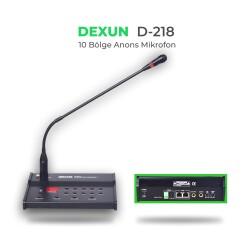 Dexun - Dexun D-218 10 Bölgeli Anons Mikrofonu Ünitesi