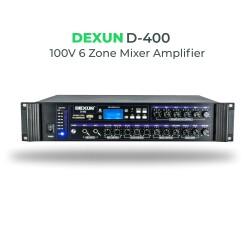 Dexun - Dexun D-400 100V Hat Trafolu 6 Zonlu Amplifer