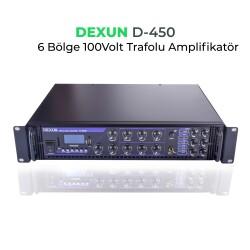 Dexun - Dexun D-450 100V Hat Trafolu 6 Zonlu Amplifer