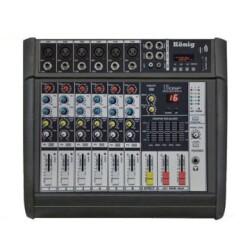 König - König K6 P500 FX 2x250W Power Mixer
