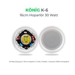 König - König K-6 Alçıpan Hoparlör 16cm