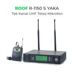 Roof - Roof R-1150S YAKA Tek Kanal UHF Telsiz Mikrofon