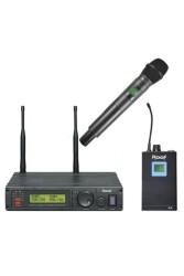 Roof - Roof R-1200 EL+YAKA 2 Kanal 2 Anten UHF Telsiz Mikrofon