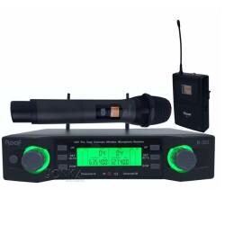 Roof - Roof R-203 EL+YAKA 2 Kanal UHF Telsiz Mikrofon