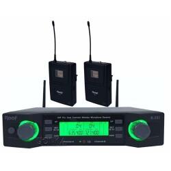 Roof - Roof R-203 YAKA+YAKA 2 Kanal UHF Telsiz Mikrofon