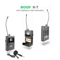 Roof - Roof R-7 UHF Kablosuz Yaka Mikrofon
