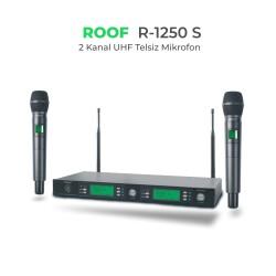 Roof - Roof R-1250 EL+EL 2 Kanal UHF Telsiz Mikrofon