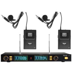 Roof - Roof R-202 YAKA+YAKA 2 Kanal UHF Telsiz Mikrofon